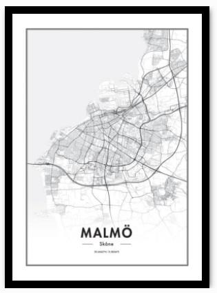 Malmö karta poster